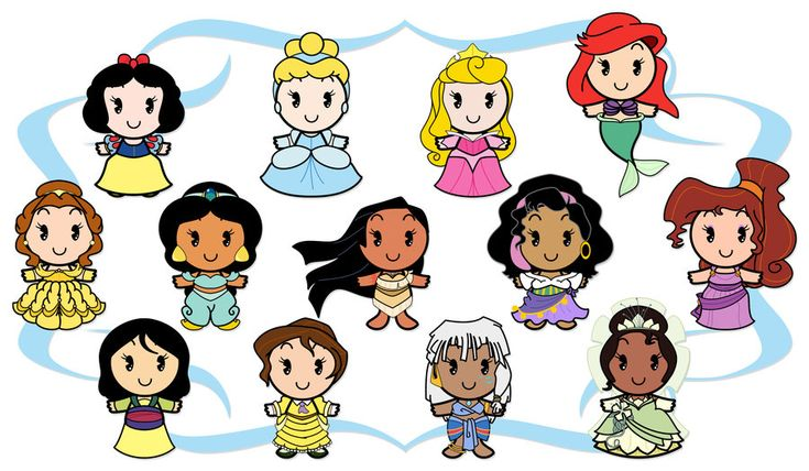 Disney Cuties - Heroines by ~Ciro1984 on deviantART