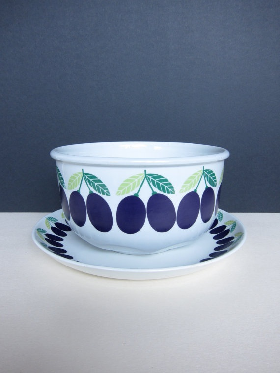 Huge Arabia Pomona Luumu Plum Bowl and Platter by ModernSquirrel, $140.00