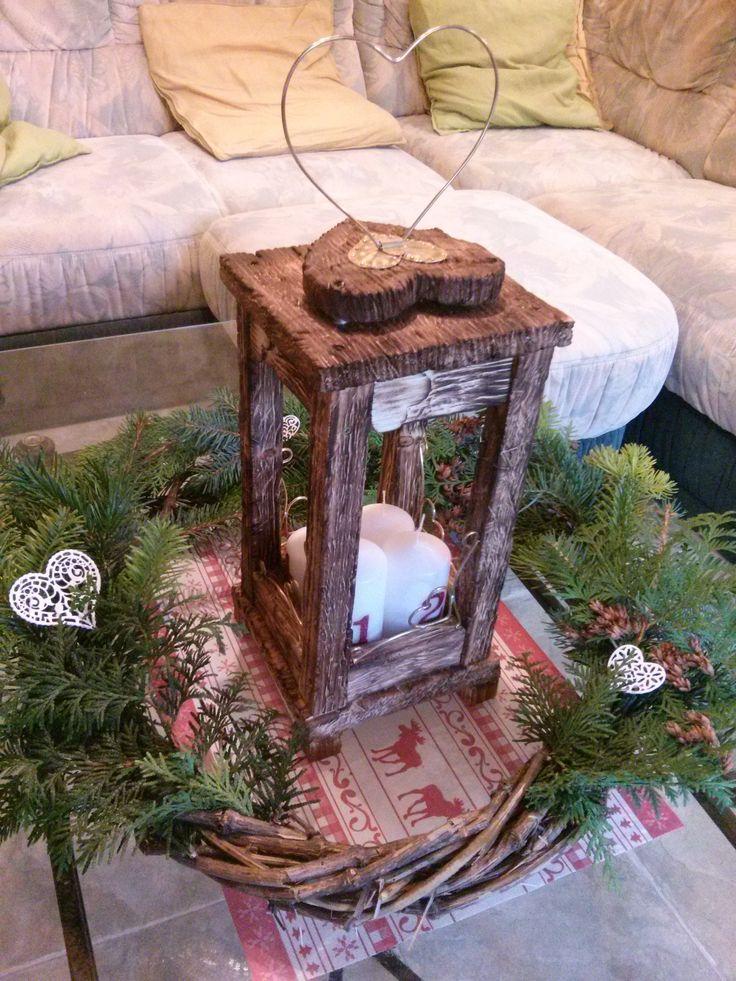 Christmas wreath- DIY Adventi koszorú