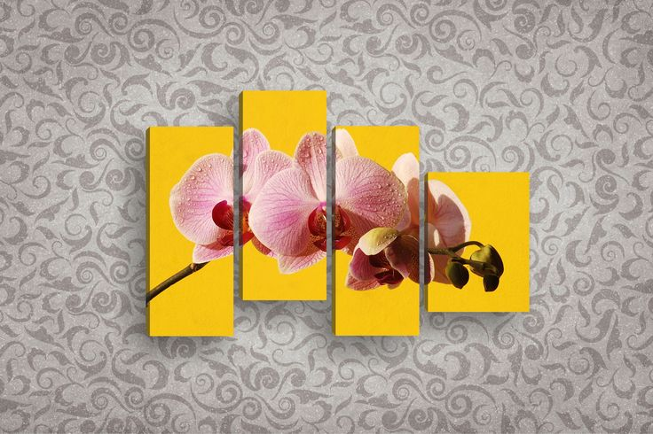 Модульная картина розовая орхидея 120 х 60 см   Магазин модульных картин