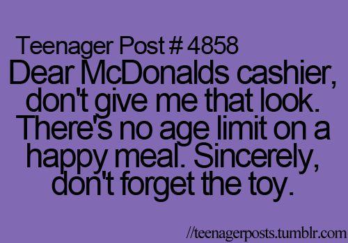 I love Happy Meals