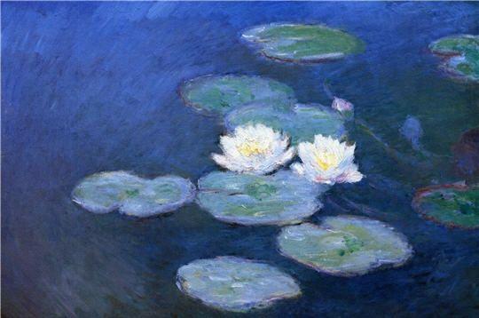 """Claude Monet, """" Nymphéas, effet du soir """" 1897"""