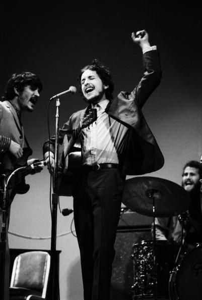 Bob Dylan With The Band, at the 1968 Woody Guthrie Tribute, uncredited