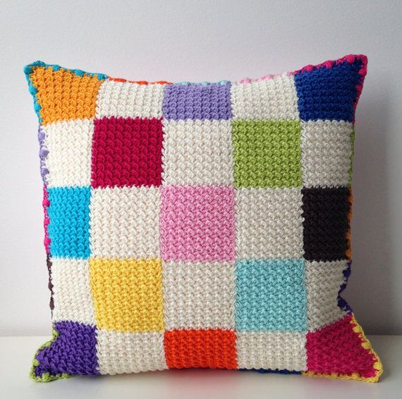 crocheted cushion/pillow cover by maRRoseCCC on Etsy