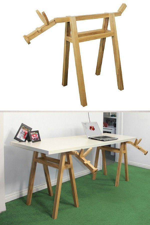 25 best ideas about treteaux design sur pinterest table tr teau tr teaux design et bureau. Black Bedroom Furniture Sets. Home Design Ideas