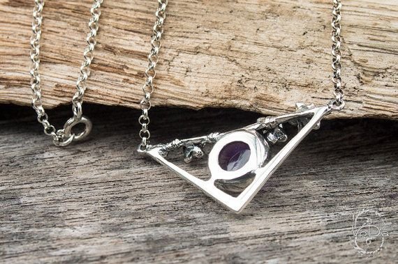 Wild Orchid sterling silver pendant with #amethyst and sterling silver chain.   Orchid is the symbol of Pure Love, flower like 'yoni' - connection with Initial Devine Source... #etsy #necklace #yoga #crystal #925