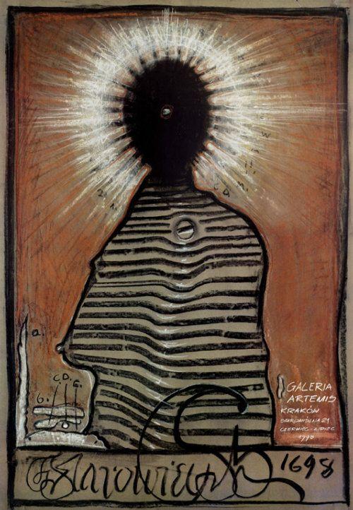 Starowieyski - Galeria Artemis   Poster for the Exhibition, designer: Franciszek Starowieyski, year: 1998