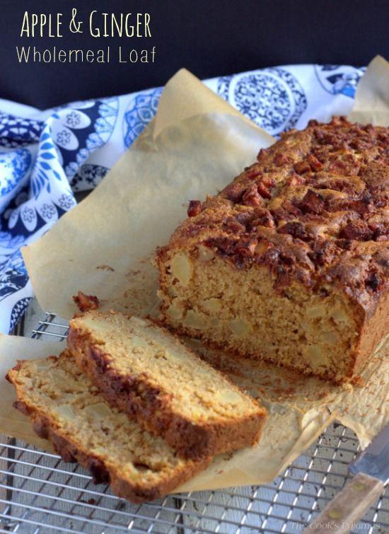 Apple & Ginger Wholemeal Loaf | thecookspyjamas.com