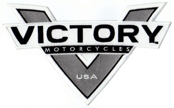 """#apparel VICTORY MOTORCYCLE JACKET PATCH - GRAY """"V"""" please retweet"""