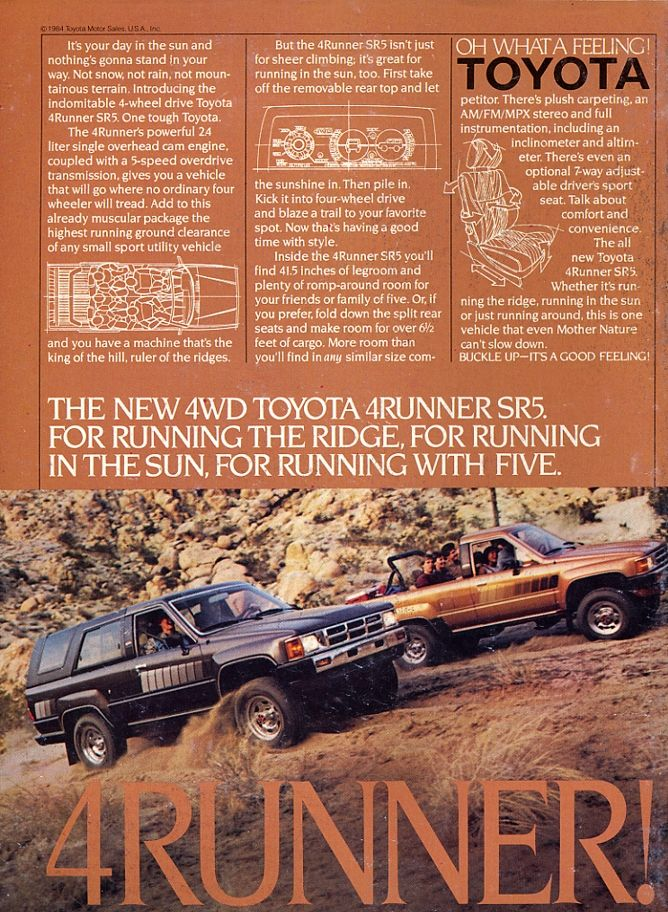 1984 Toyota 4Runner SR5 | The Best Stuff In The World ...