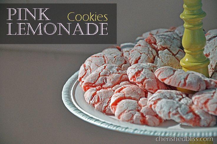 Cherished Bliss: Strawberry Pink Lemonade Cookies #cookies #recipe