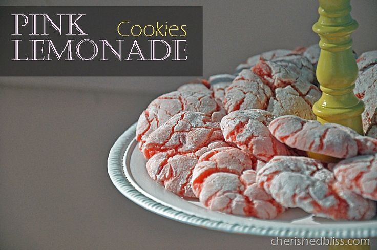 Cherished Bliss: Pink Lemonade Cookies #cookies #recipePowder Sugar, Lemon Cake, Cherish Bliss, Strawberries Pink, Lemon Zest, Pink Cookies, Strawberries Cake, Pink Lemonade Cookies Thumb, Cake Mixed Cookies