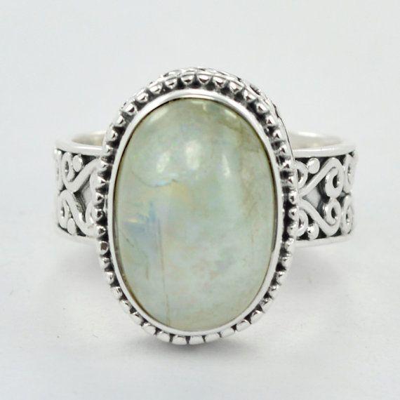 Most Beautiful 925 Sterling Silver Ring Rainbow by DevmuktiJewels