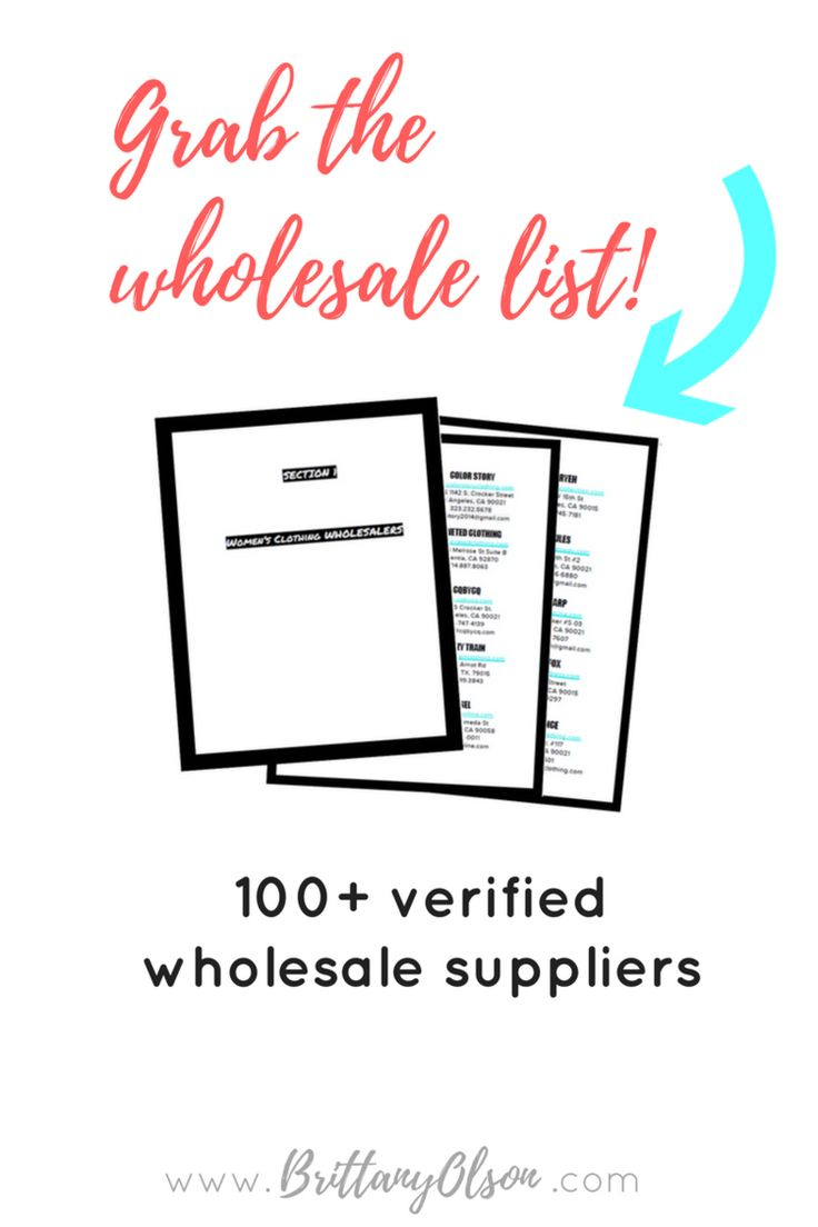 Boutique wholesale clothing suppliers to help you start an online boutique. How to open an online shop? Find clothing wholesalers with quality wholesale boutique clothing. CLICK to grab our master wholesaler list!