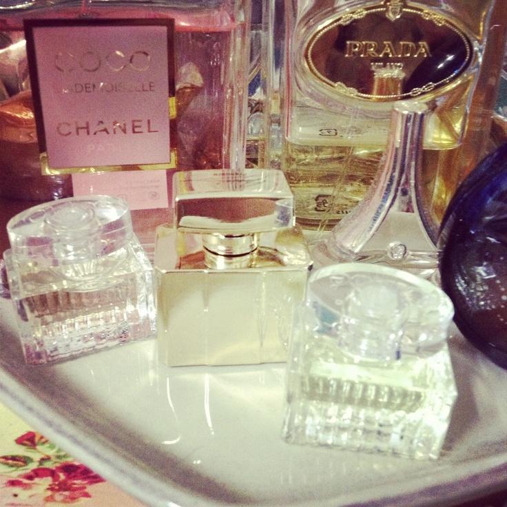 My smell,Chanel,Prada,Guerlain,Van Cleaf.
