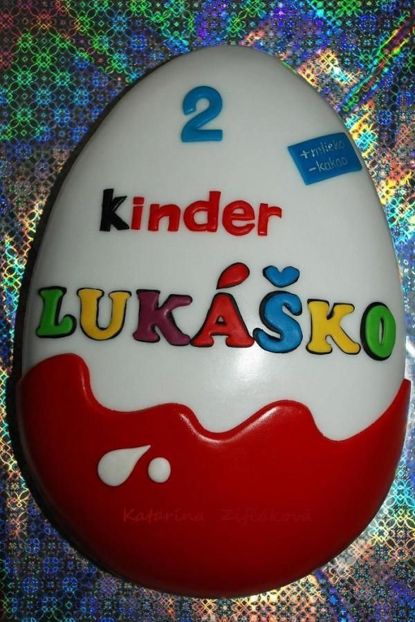 Kinder surprise maxi - Cake by katarina139