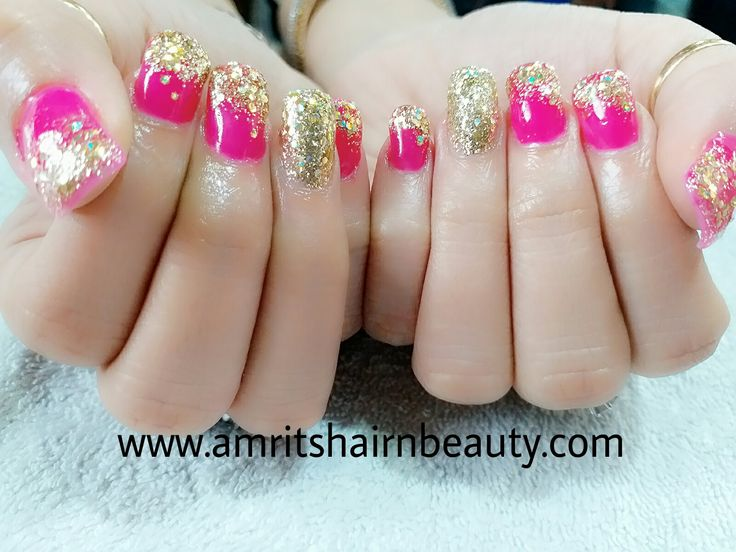 NAILS WITHOUT A LITTLE SPARKLE IS LIKE CAKE WITHOUT FROSTING!!!!!!!!!!!!!! just a look at my new creativity pink glitter nails. Can also visit at: http://www.amritshairnbeauty.com/best-nail-bar-art/ or call: 9461088831 #nailart #nailbar #beautysalon #beautyparlour #udaipur