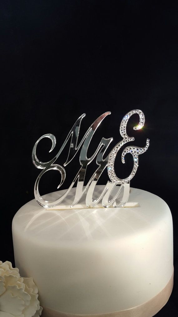 LAST ONE IN STOCK! Ready to Ship Mr & Mrs Wedding Cake Topper by SpectacularEvents