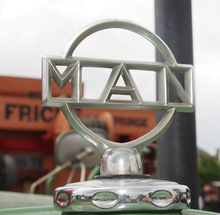 Kühlerverschluss von einem #MAN #Traktor aus den 1950er Jahren.