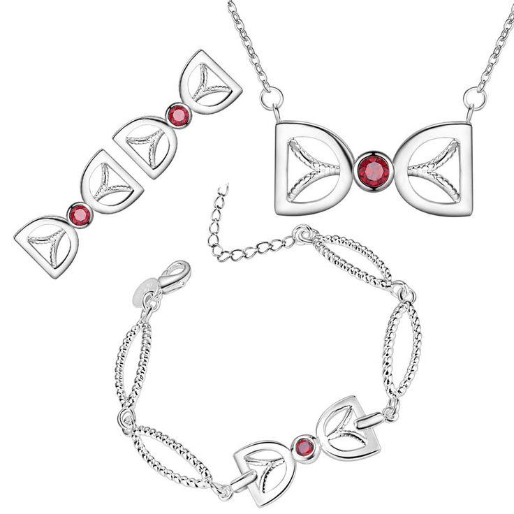 Купить Женщины чистое серебро ювелирные комплект серьги / браслет / ожерелье…