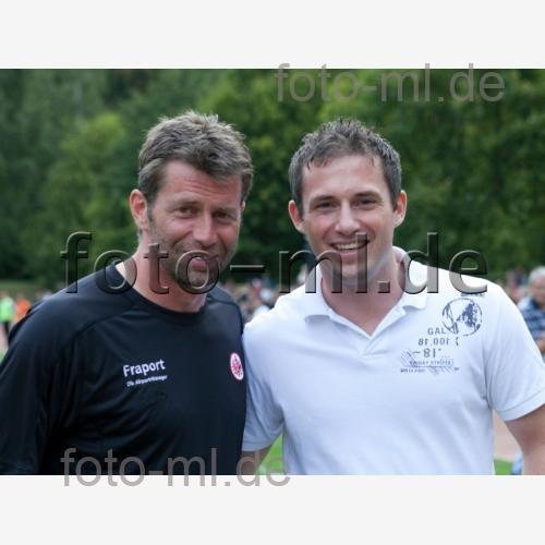 SV 09 Hofheim (bl) - Eintracht Frankfurt (rt) / v.l.n.r Michael Skibbe und Mario Jung  - Fußball