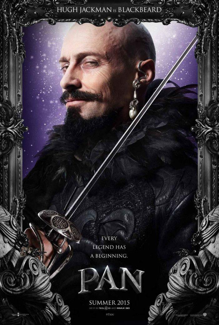 New Hugh Jackman (Blackbeard), Rooney Mara (Tiger Lily) & Garrett Hedlund (Hook) Posters For Joe Wright's 'Pan'