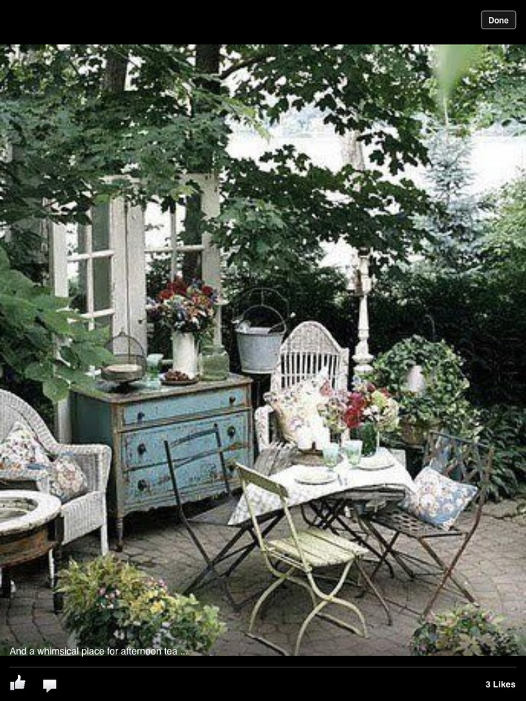 shabby chic garden garden dreams pinterest. Black Bedroom Furniture Sets. Home Design Ideas