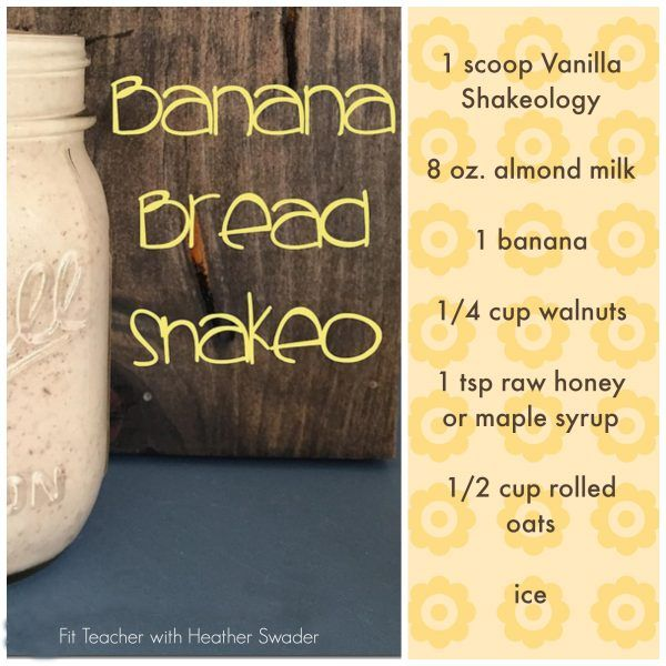 With the Vanilla Shakeology, I have recently discovered one of my all time favorite Shakeology recipes - Banana Bread Shakeology!