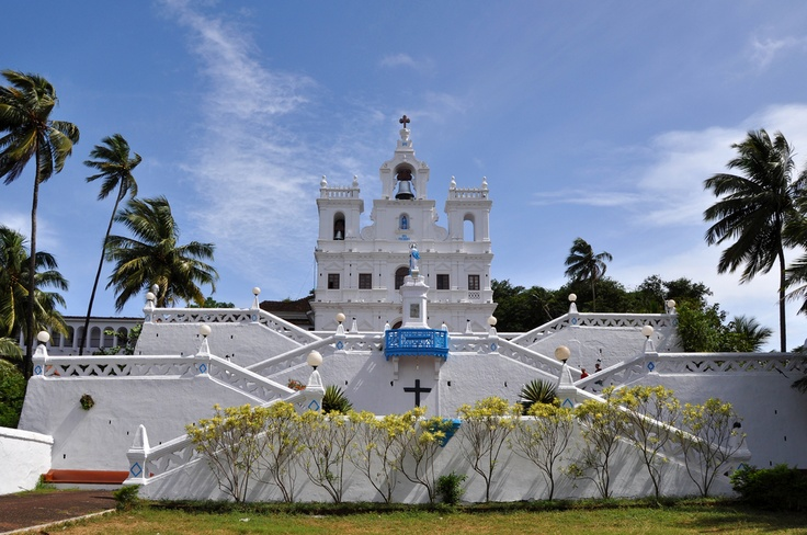 Our Lady of the Immaculate Conception Church overlooks Panaji's main square, Church Square and is the town's most important landmark. The first church built in Goa. It got its most striking feature, the double flight of stairs in 1871. #CoxandKings