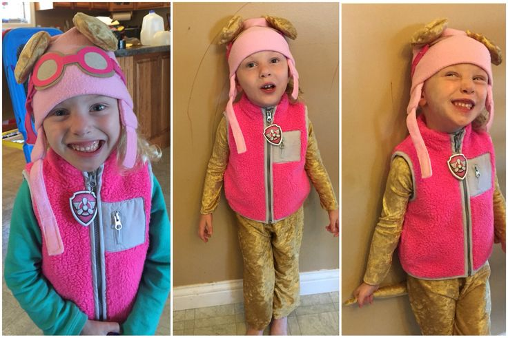 how to make a sky paw patrol costume
