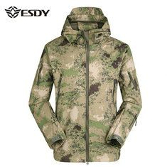 Extra 20% OFF [Coupon Code: MC1020]   ESDY Mens Tactical Military Outdoor Waterproof Coat Softshell Outwear Concealed Carry Jacket