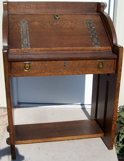 Image result for vintage craftsman built in desk