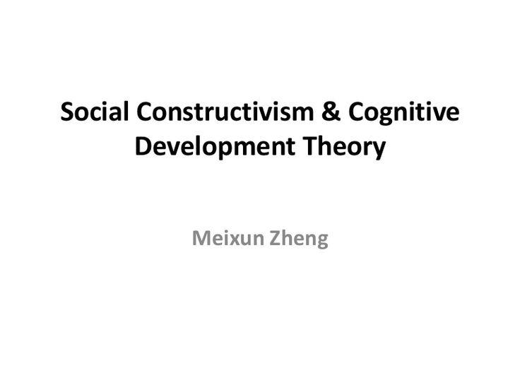 Social Constructivism & Cognitive Development TheoryMeixunZheng