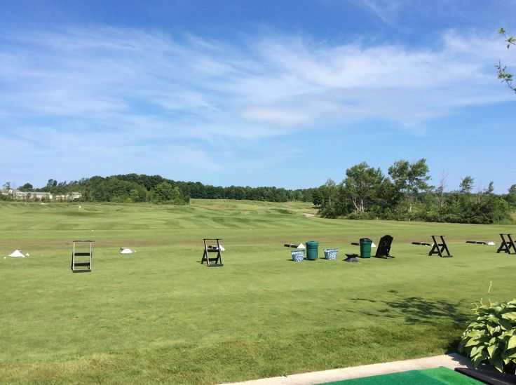 We could even tell by the driving range that Cobble Beach would be a first class golf facility.