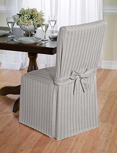 Luxurious Dining Chair Slipcover Herringbone Beige Grey And Red