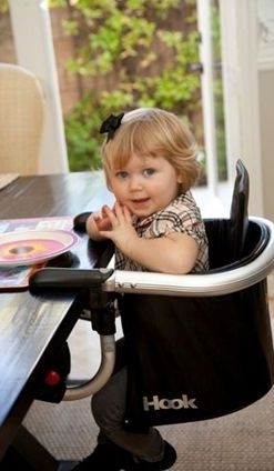 Hook portable high chair
