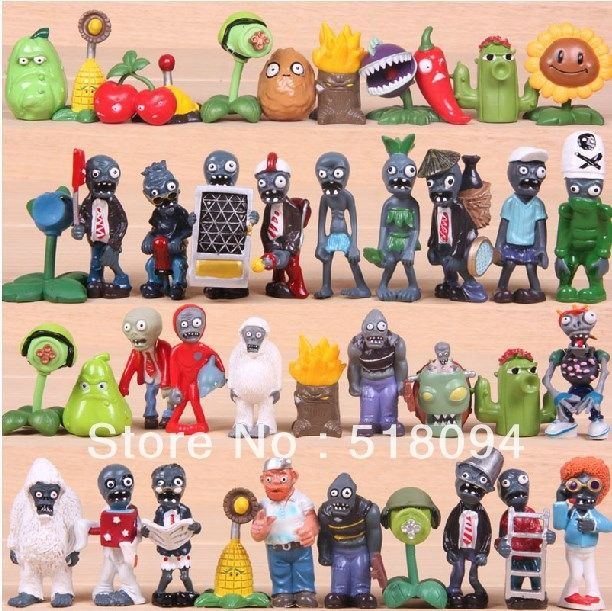 48.71$  Buy here  - 60pcs/set PVZ Plants vs Zombies PVC Action Figures Collection Figures Toys Gifts Plants + Zombies
