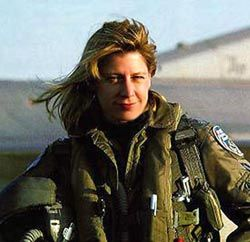 Tallie Cavanaugh  In real life, this is Lt Col Jackie Parker, the first female test pilot.