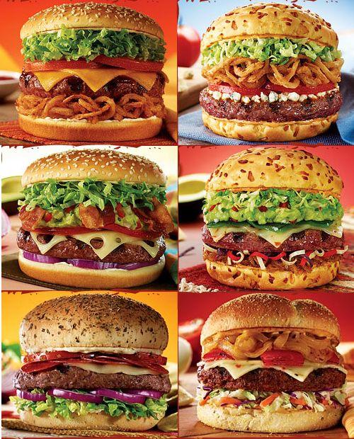 Adoro las hamburguesas, en todas sus formas, colores y sabores.