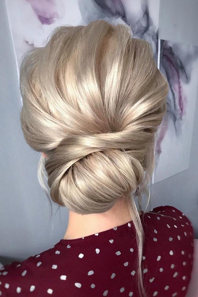30 Bridal Hairstyles For Perfect Big Day Party ❤️ romantic bridal updos wedding hairstyles swept low blonde bun hair_vera #weddingforward #wedding #bride #weddinghairstyle #bridalhairstyles