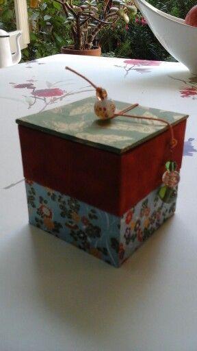 Resultaat workshop janine Vos De Mooij ( handgemaakte dozen )