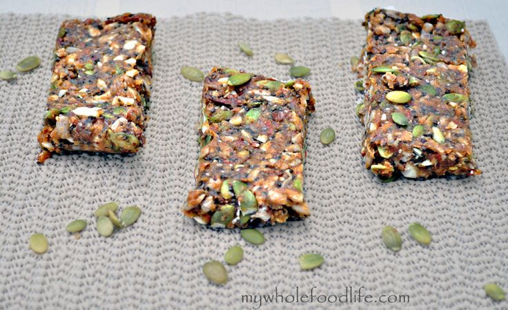 Maca Energy Bars.  These little bars are paked with protein and the maca will give you a natural energy boost.  Vegan, gluten free and grain free.