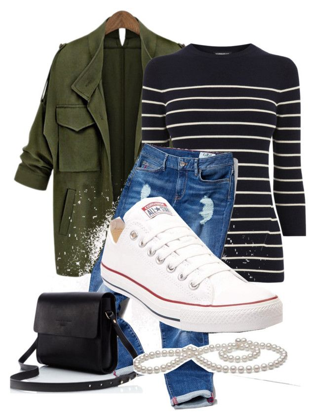 """stripes"" by dilley818415 on Polyvore featuring Warehouse, Tommy Hilfiger and Converse"