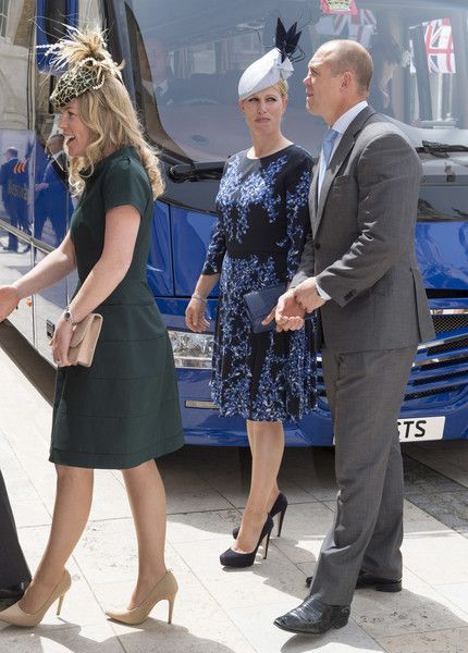 Zara Phillips Photos - Autumn Phillips, Zara Phillips and Mike Tindall attend a lunch after the National Service of Thanksgiving as part of the 90th birthday celebrations for The Queen at The Guildhall on June 10, 2016 in London, England. - Guildhall Lunch Following The National Service Of Thanksgiving To Celebrate The Queen's 90th Birthday