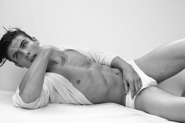 Brandon Thornton in Calvin Klein