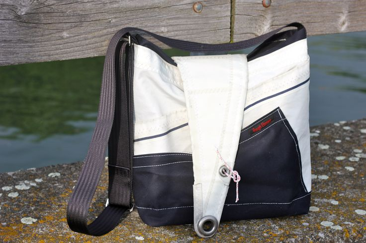 Recycled sailcloth bag by Rough Element