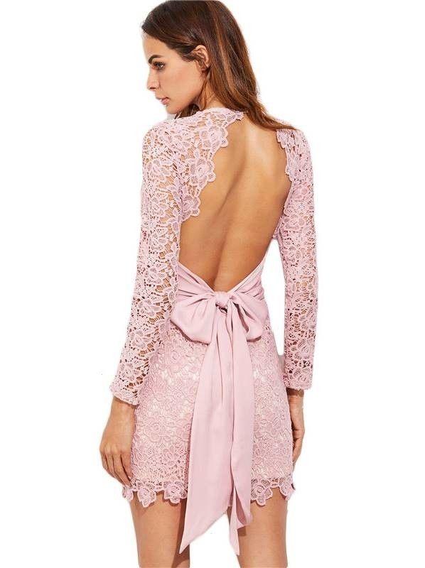 Vestido de Renda Rosa - Compre Online | DMS Boutique