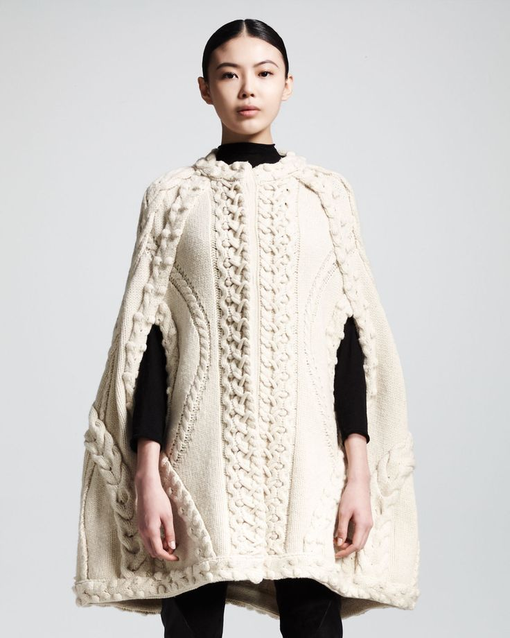 Knitting Pattern Ladies Cape : 25+ best ideas about Knitted Cape on Pinterest Knit poncho, Knitted poncho ...