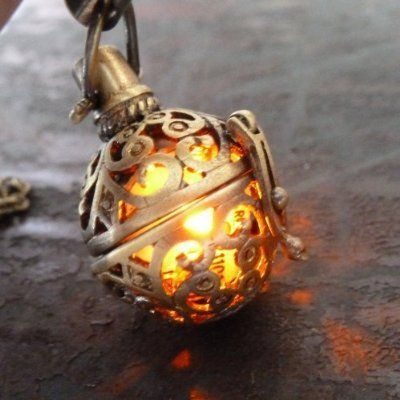 Steampunk Fire Necklace – $30