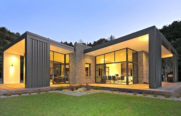 Modern home in New Zealand.